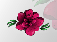 Abstract flower icon
