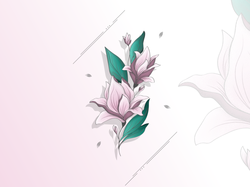 abstract flower ui branding icon abstract effects banner vector 2d logo graphics flat artwork design illustration