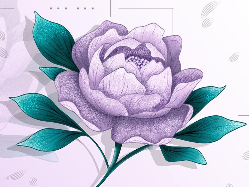 Floral print abstract prints artwork illustration design floral