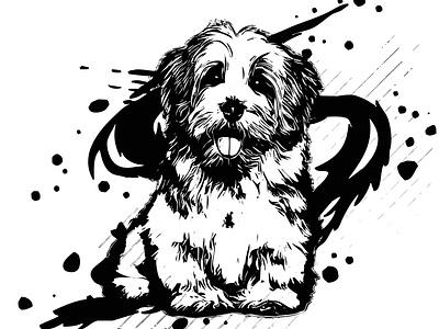 ink vector doggie effects logo abstract vector graphics flat 2d artwork design illustration