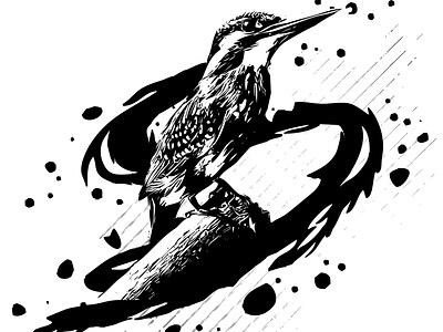ink vector bird effects logo abstract vector graphics flat 2d artwork design illustration