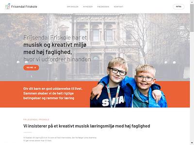 School Website elementor interaction user experience user inteface ux ui web design