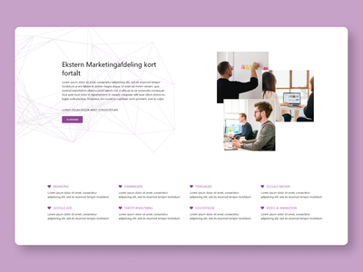 Marketing Website About Section Draft agency marketing about us website web adobe xd ux ui web design