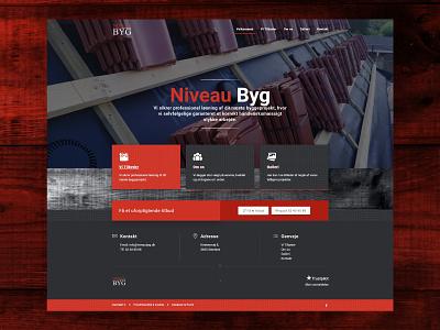 NiveauByg carpenter ux ui homepage website design web web design