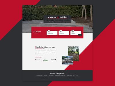 Andersen&Lindblad construction construction work craftsmanship carpenter homepage ui website design web web design