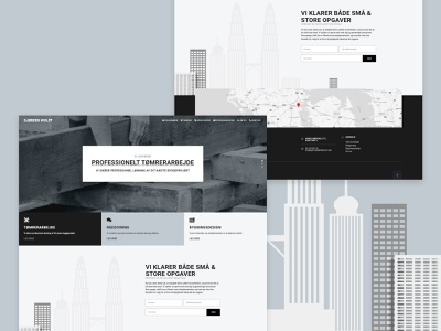 SJOBERG WOLFF ui building design carpenter homepage website design web web design