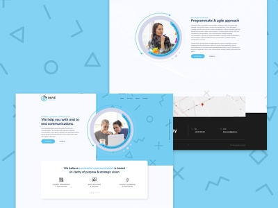Drive Communications agency communication communication agency ui website design web web design