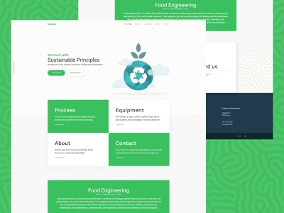 SteCaO web development development sustainable engineering food ui homepage design website web web design
