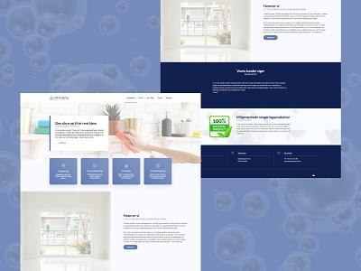 LUX Cleaning Service cleaning service cleaning company web development web design ui homepage development design website web