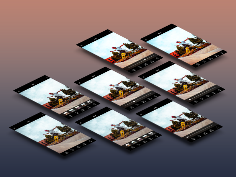 Photo Editing App photo editing app ux ui prototype adobe xd