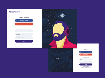 Sign Up / Sign In create account sign in sign up podcast ux ui