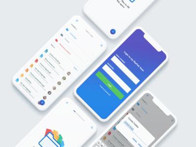SkyFlok iOS UI case study cloud storage ui design app design app ios