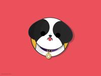 Say hello to Skyy! inspired simple illustration cute illustration shitzu dog vector vector clean graphic design flat flatdesign animal art cute animal