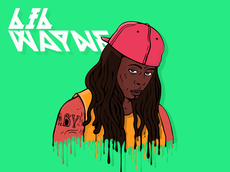 Lil Tunechi - Hip Hop Head music music artist hip hop artist weezy lil tunechi lil wayne illustrator clean illustration design vector daily art illustrator art graphic design hip hop
