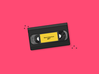 VHS Tape vhs recorder tape old devices retro devices vintage retro illustrator illustrator art vector illustration design daily art graphic design clean