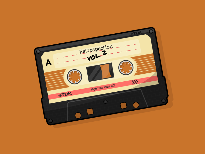 Retrospective Vol. 2 daily art casette tape retro tech clean illustrator graphic design