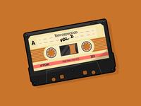 Retrospective Vol. 2 daily art casette tape retro tech clean illustrator graphic design