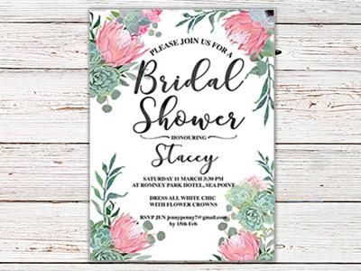 Bridal Shower Invite design graphic