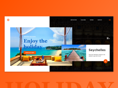 Holiday Website Concept