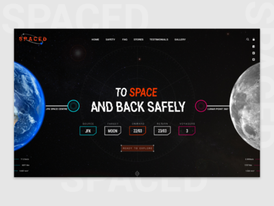 Spaced Challange Website Landing Page cocept