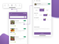 Booking process (Restaurant table Booking app)