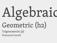 Algebraic