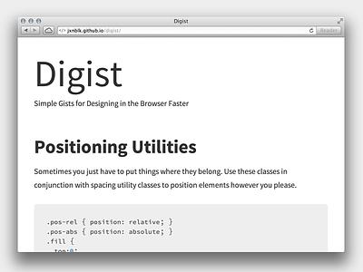 Digist web website css gist blog source sans pro source code pro