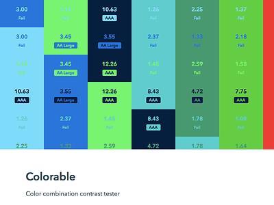 Colorable color contrast web web app react basscss npm node