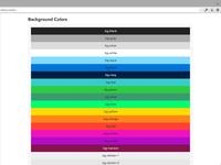 Basscss v5 Background Color