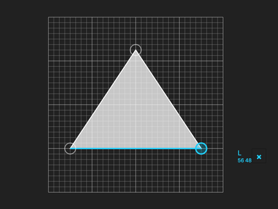 Paths triangle inline styles react web app web svg