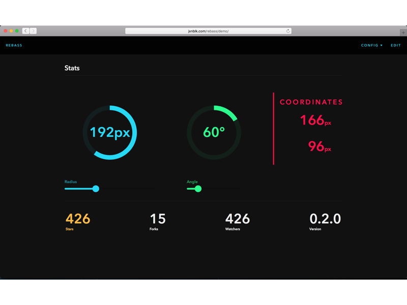 Rebass Dark Demo web components ui react