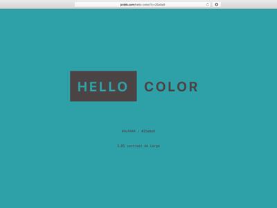 Hello Aqua web website app color