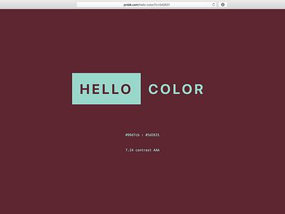 Hello Maroon web website app color