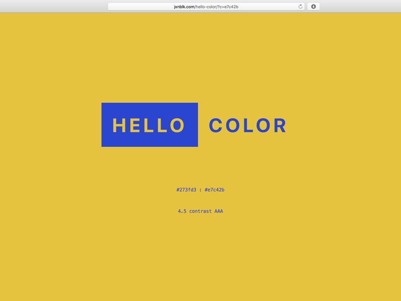 Hello Yellow web website app color