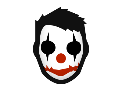 Free candy clowns halloween illustration avatar