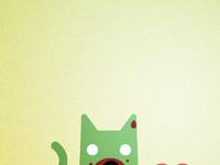Zombiecatlovesvalentinesday iphone