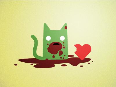 Zombiecatlovesvalentinesday