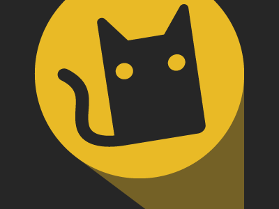 The Cat Signal cat icon vector illustration