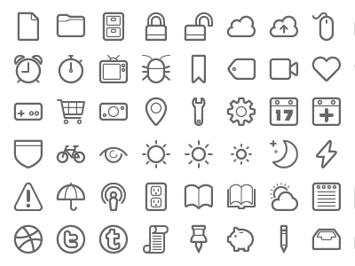 159 and counting icons pictograms