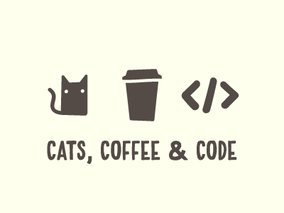 A great way to start the day cats coffee illustration icons icon handblock