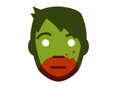 Getting in the spirit avatar zombie logo