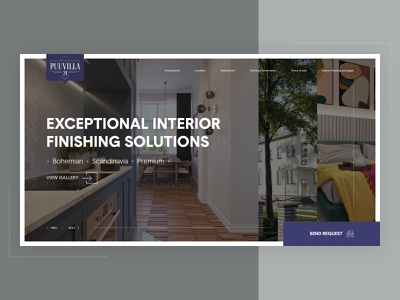 Puuvilla 24 apartments web animation website webdesign ux ui design