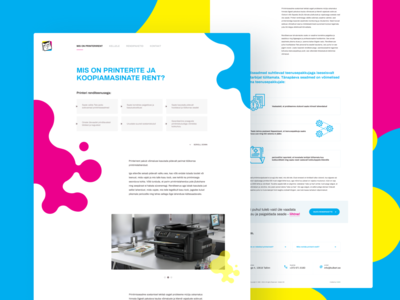 Printerirent design website ux ui animation icon webdesign