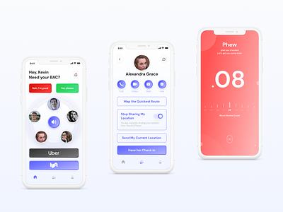 Safe driving app concept ux ui figmadesign safety health app driving product design figma mobile app app ui ios app