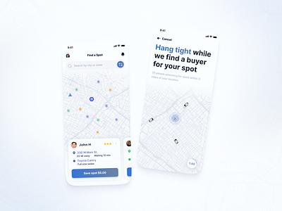 Car Parking App mobile ui mobile app mobile app design parking app parking driving app ui ux ui app