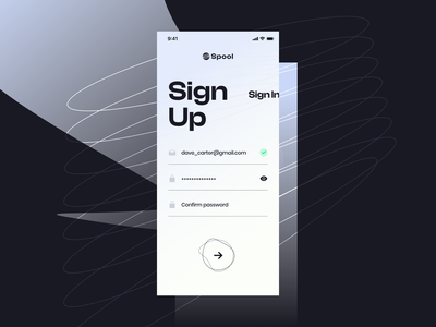 Sign up | Daily UI 001 daily 100 challenge dailyuichallenge app ui mobile app app uiux ux ui dailyui 001 dailyui