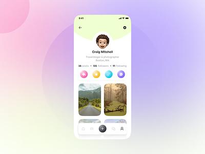 User profile | Daily UI 006 figma profile screen profile concept uiux ui ux app ui mobile app daily 006 daily 100 challenge dailyui