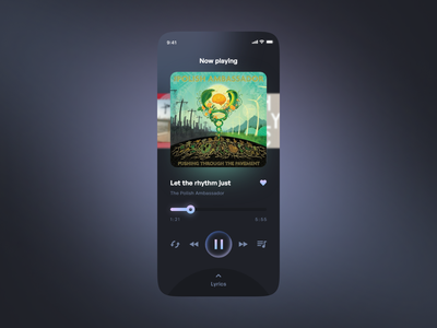 Music player | Daily UI 009 concept music player music ui mobile ui mobile app dailyuichallenge daily ui 009 daily ui dailyui