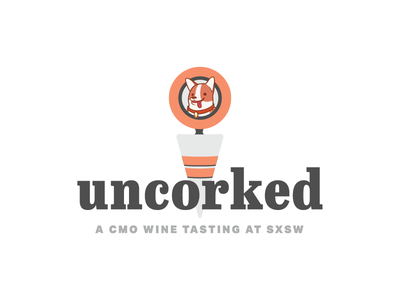 Uncorked: Logo uncorked trackmaven sxsw illustration logo branding