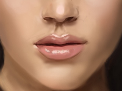 Mouth Digital Painting By Alice T On Dribbble